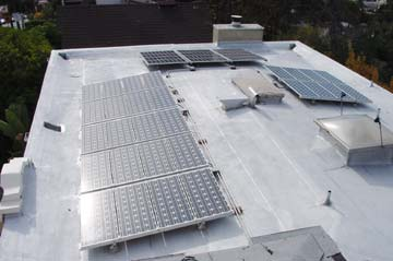 PV roof installation