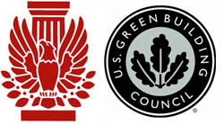 AIA and USGBC logos