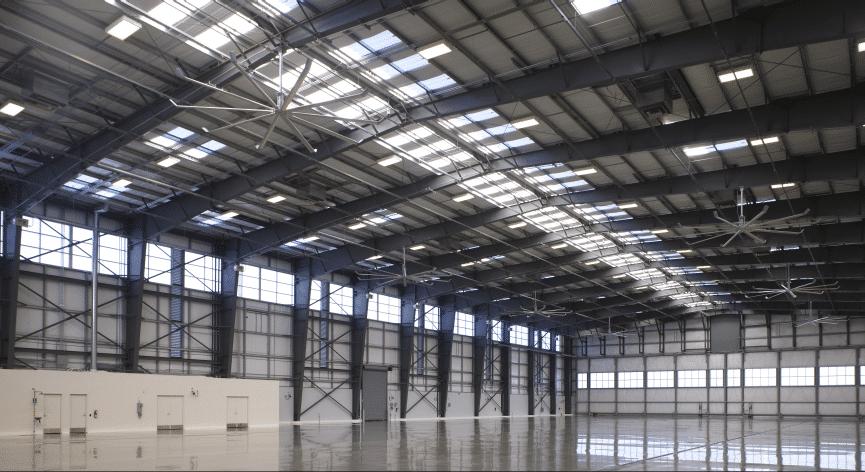 Shangri la construction unveils world 39 s first aviation hangar to achieve leed paltinum for Architecture hangar