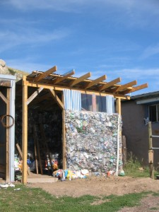 Construction of the Lucky Ranch trash barn
