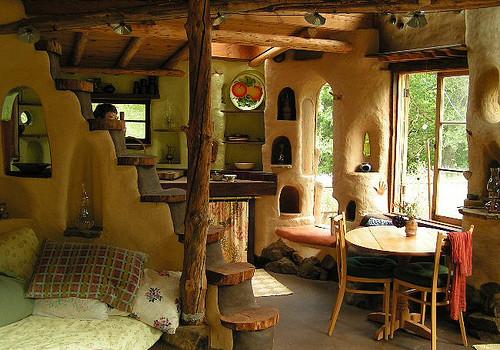 meka cob cottage interior design