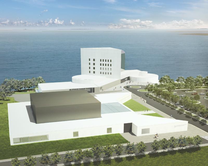 Edward M. Kennedy Institute rendering