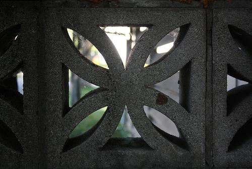 cement flower