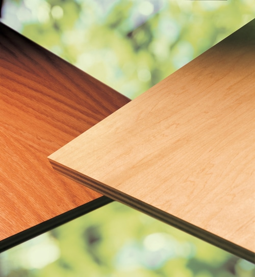 Formaldehyde-Free Hardwood Plywood