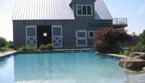 modular shelter Barn with Pool