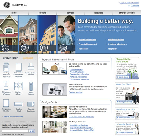 BuildWithGE.com home page