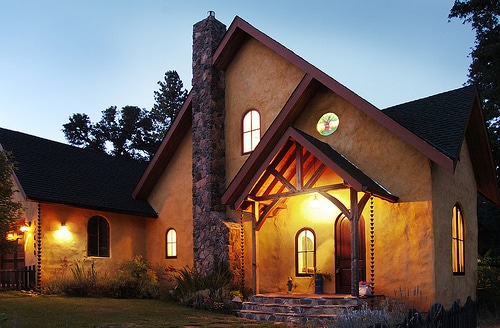 Straw Bale Home Exterior View Green Building Elements 2019