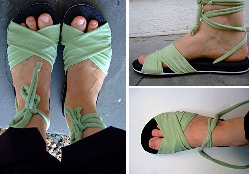 wrapped sandals