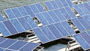 solar panels on water shutterstock_116477020