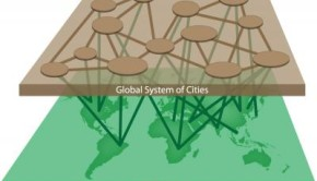 This is a global system of cities cooperating with rural regions for sustainable management of planetary resources.    Credit: IGBP