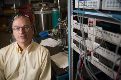 MSU researcher Donald Morelli leads a team that has developed a new thermoelectrical material. The materials are used in cars, computers and other devices to capture waste heat are turn it into useable energy.