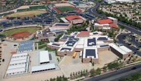 Faith Lutheran Middle School & High School's 1.11-MW solar installation features solar panels from SolarWorld. (Photo: Faith Lutheran)
