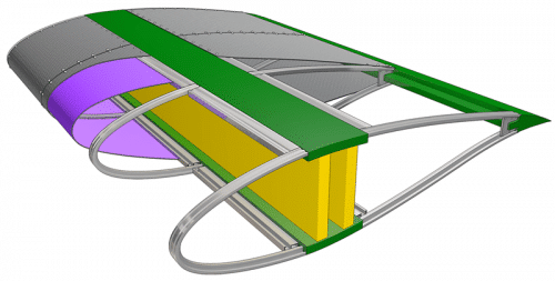 GE wind turbine blades in fabric