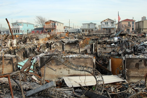 Breezy Point, New York after Hurricane Sandy hit.