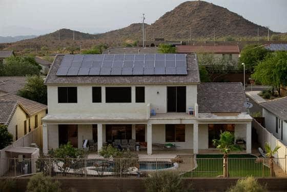 Rooftop Solar Panels. Image Credit: Joshua Lott/New York Times.