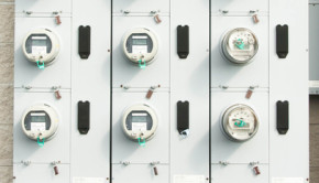 rows of electric meters shutterstock_147530858