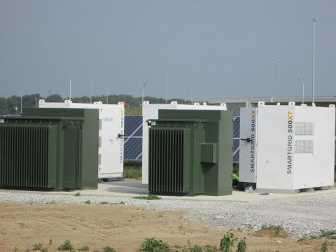 Solectria Renewables' SGI 500XT inverters were chosen for this 12MW DC project at the IND Airport Solar Farm. (Photo: Business Wire)