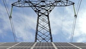 solar energy panels with power line shutterstock_158991989