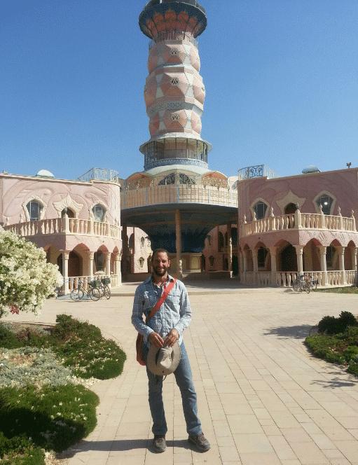 Scott Cooney in Israel at Neot Semedar Kibbutz