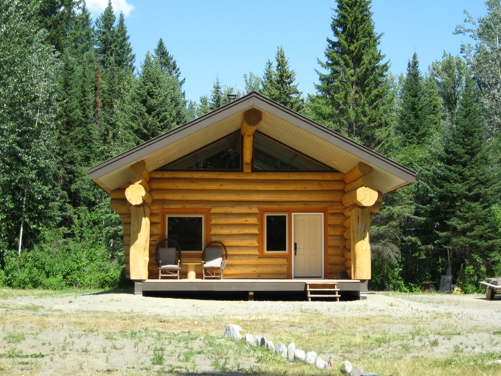 Guest post living green in your log home green building for Easy to build small cabins