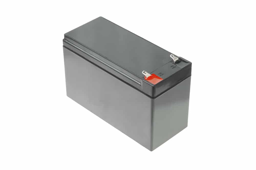 rechargable battery on wgite shutterstock_172472135