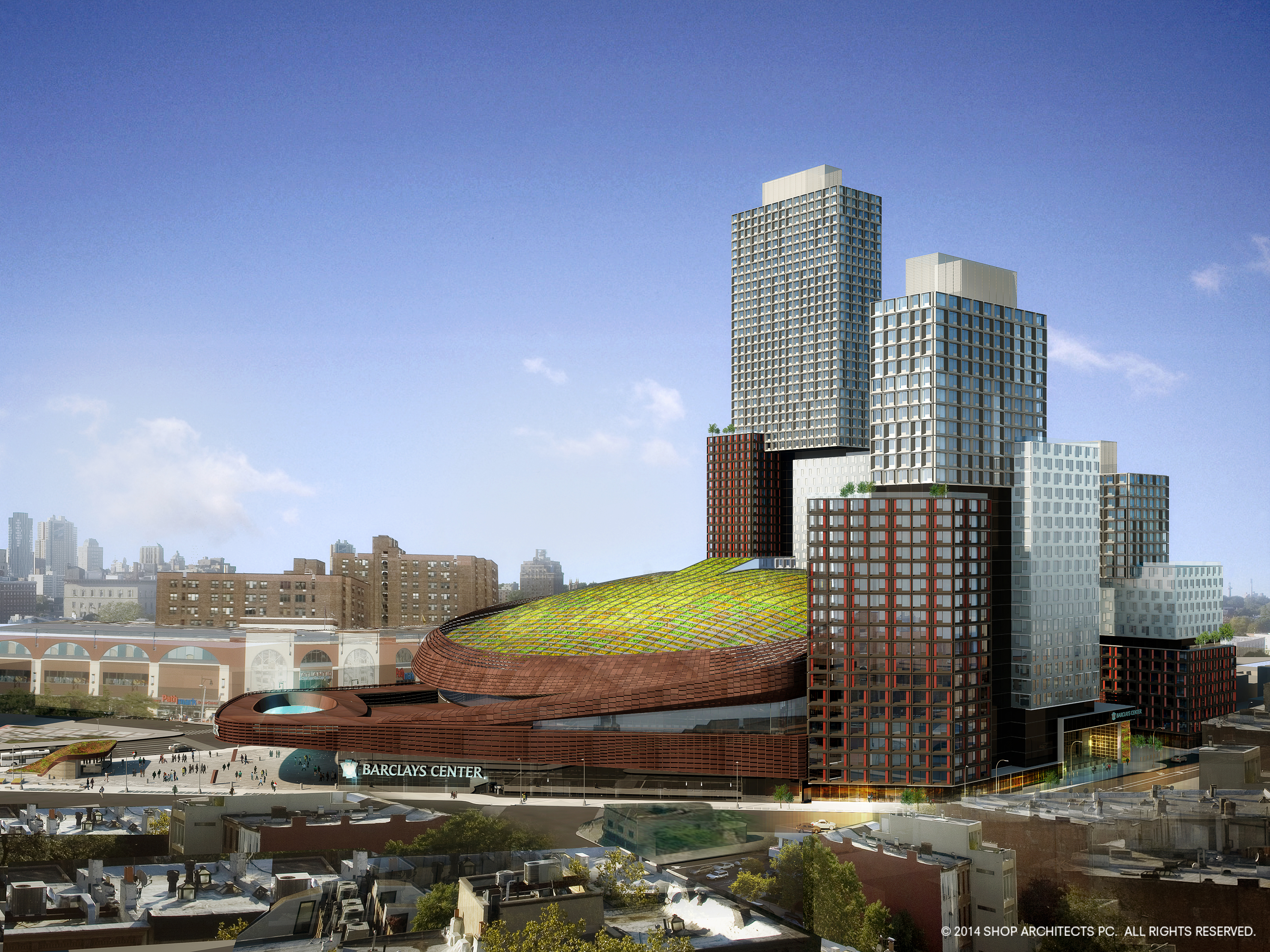 Green roof slated for barclays center in brooklyn green for The barclay