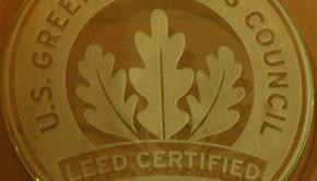 LEED plaque by Wonderlane