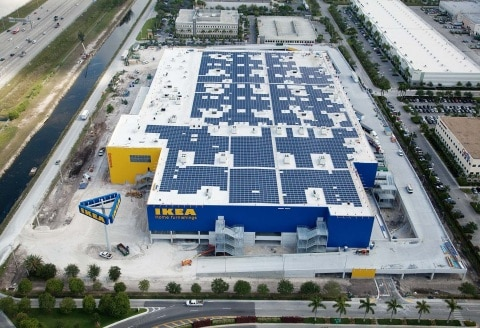 Ikea Completes Largest Solar Installation Atop Future