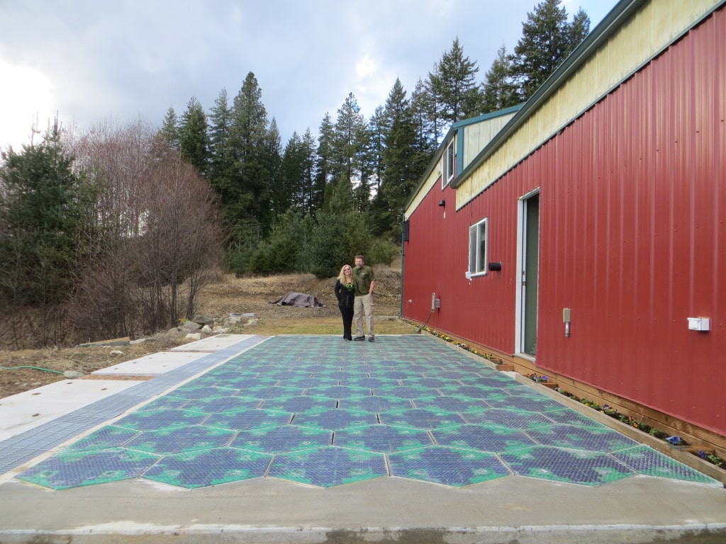 Solar Roadways Parking lot east