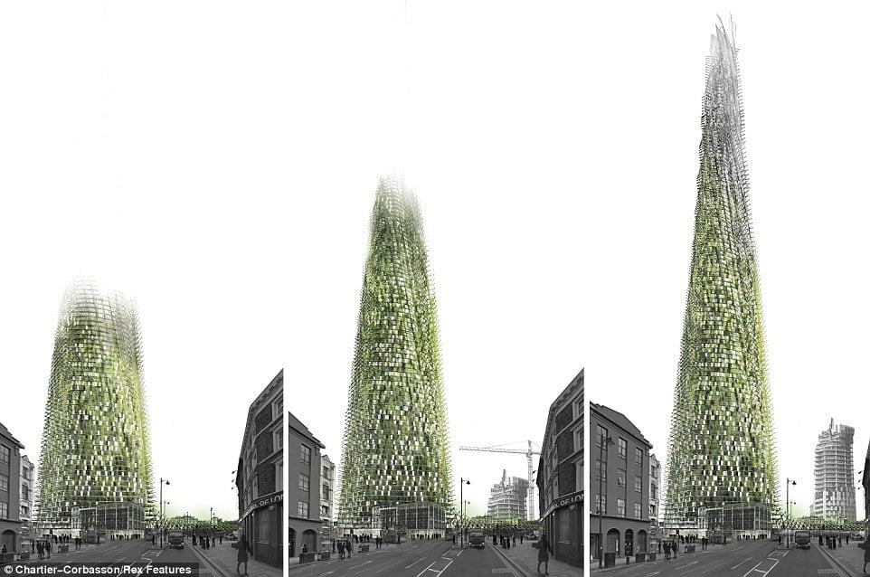 Organic skyscraper grows as needed, adding additional floors