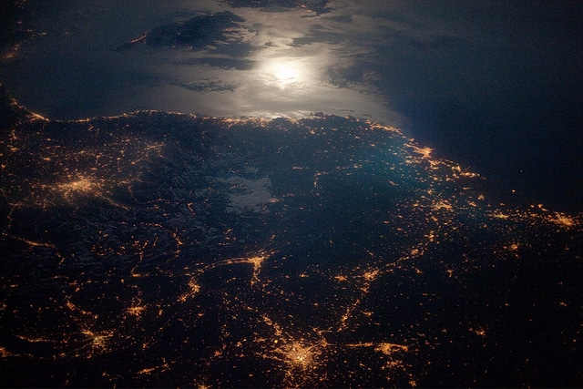 Light pollution in France