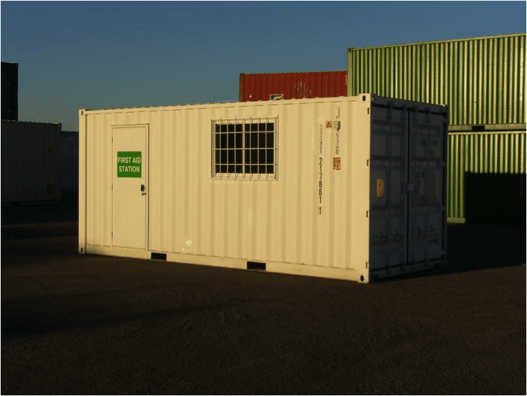 Shipping container clinic