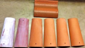 Coated roof tiles