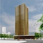 Plyscrper is a 30 story tall building made of wood