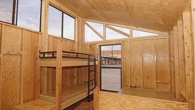 Rendering of interior of Wedge cabin