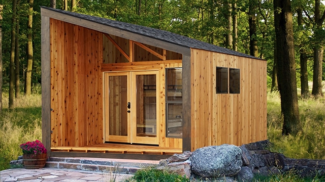 Rendering of the Wedge cabin design