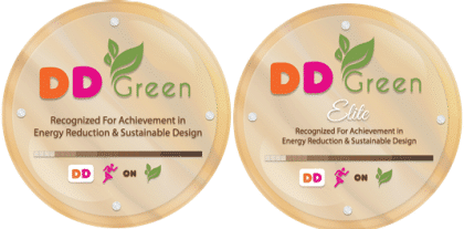 DD Green in store plaques
