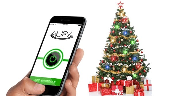 Wireless holiday lights by Aura