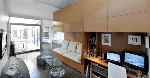 Tiny house garage interior