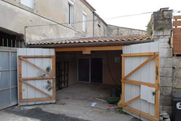 Garage before tiny house