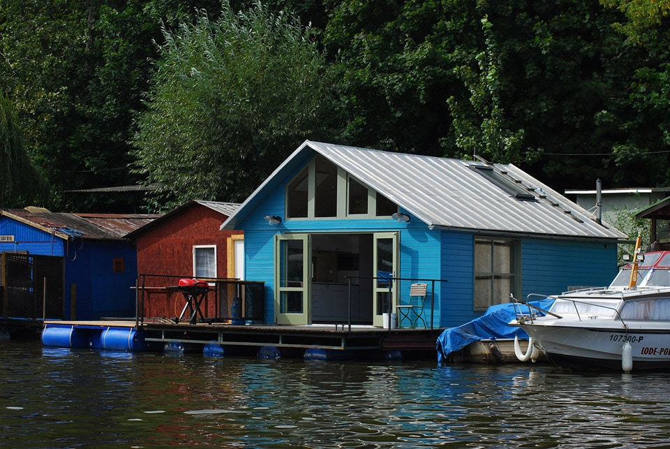 Tiny Houseboat Gets The Tiny House Treatment