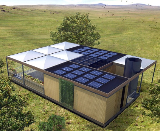 NexusHaus is a collaboration between the Munich Technical University and the University of Texas - Austin. It is a sustainable home built from renewable and recyclable materials for the 2015 Solar Decathlon competition.