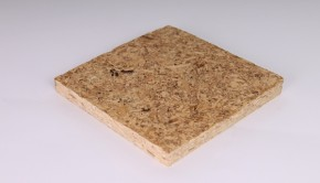 Ecovative particle board uses mycelium from mushrooms instead of formaldehyde and petro-chemical based resins.