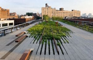 Architect Farrow says New York City's Highline Park is an example of good outdoor design.