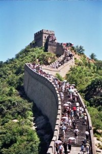 The Great Wall of China is made of rammed earth