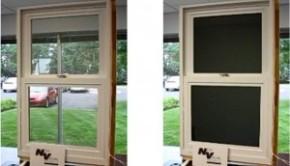 Ink-coated window shade saves energy