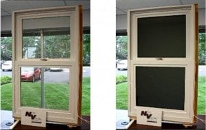Ink-coated window shade saves energy