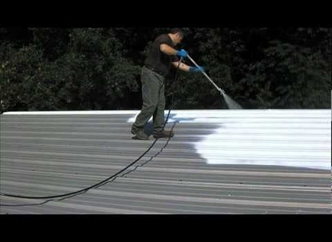 Cool roof coating can reduce energy usage and lower electric bills.