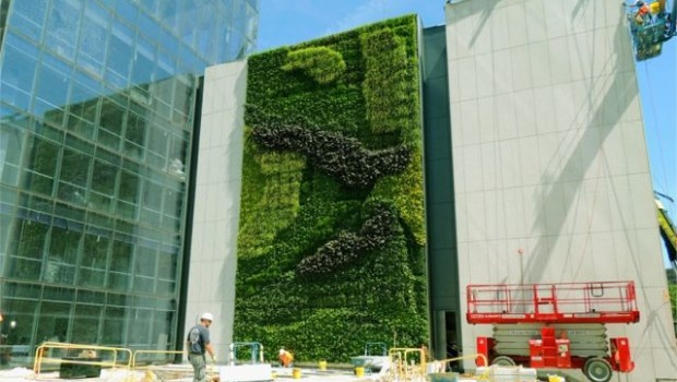 Prudential Adds Green Wall To New Jersey Headquarters