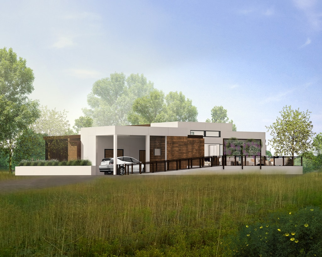 Team Orange County's entry into Solar Decathlon 2015